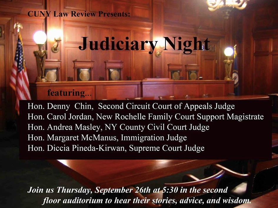EVENT: Judiciary Night | CUNY LAW REVIEW
